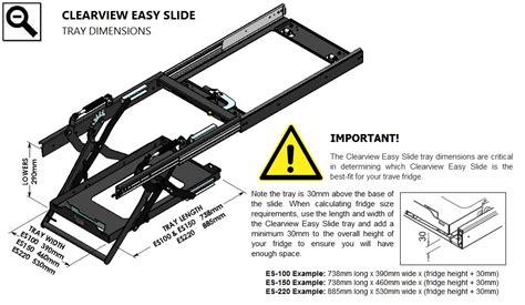 All Black Kitchen Aid clearview easy slide fridge lowering fridge slide