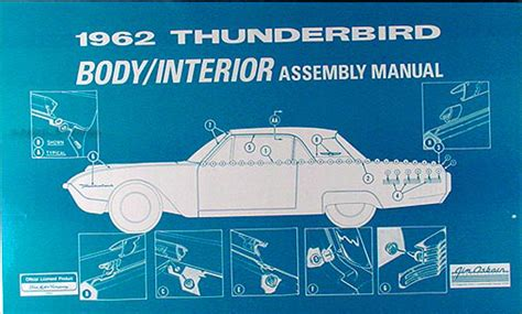 free service manuals online 1958 ford thunderbird interior lighting 1962 thunderbird electrical assembly manual reprint