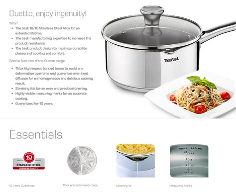 Tefal Its Time Stewpot Silver tefal duetto new stainless steel kitchen cookware 10 pcs