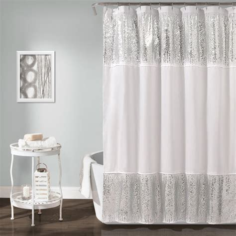 shimmer shower curtain shimmer sequins 72 in shower curtain lush decor shower