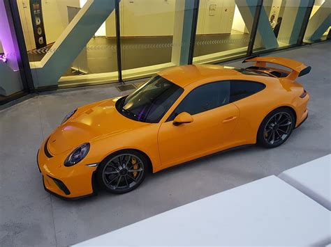 porsche signal yellow 2018 signal yellow 911 gt3 looks like a beacon parked on