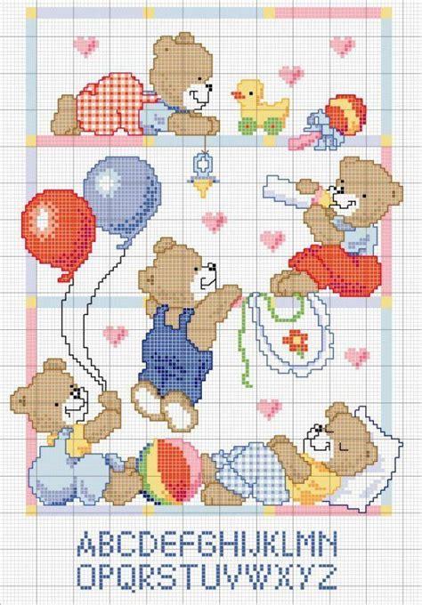 patrones de bordados para bebes punto de cruz osos patrones gratis imagui punto cruz