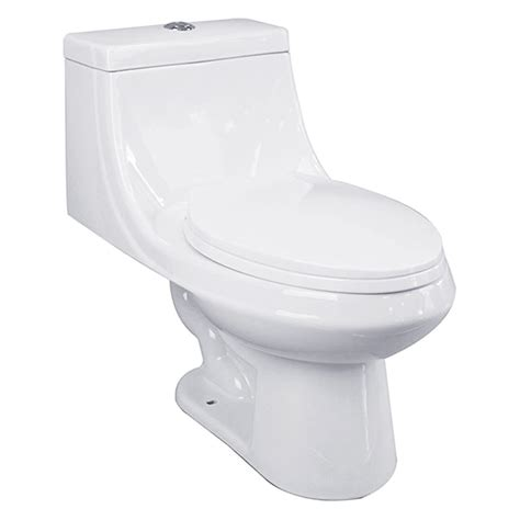 Rona Plumbing by Elongated Front 1 Toilet 3 8 L 6 L White Rona