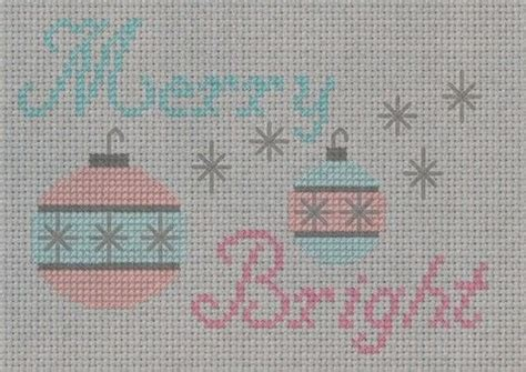 retro christmas ornament cross stitch pattern   cross stitch needlework  cut