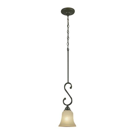 Portfolio Pendant Light Shop Portfolio Linkhorn 6 In W Iron Mini Pendant Light With Frosted Glass Shade At Lowes