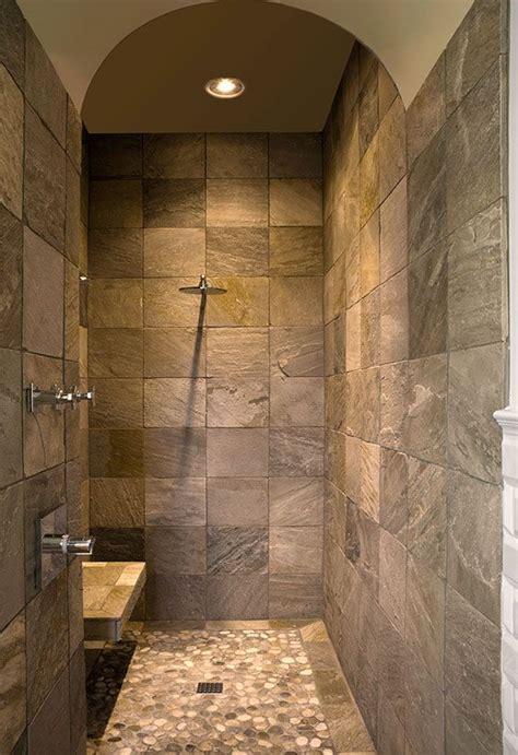 river stone bathroom 25 best ideas about river rock shower on pinterest