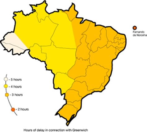 brazil time zone map brazil time zone what time is it in and other cities