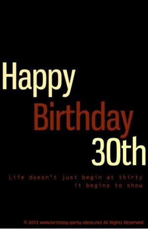 30th Birthday Quotes Happy 30th Birthday Quotes Quotesgram