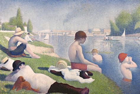 georges seurat most famous paintings bathers at asnieres by georges pierre seurat