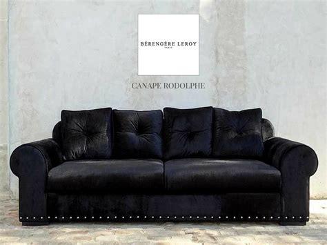 canapé velours noir canape en velours noir cloute rodolphe collections