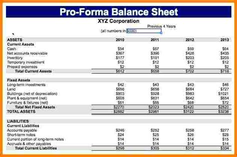 Pro Forma Financial Statements Exle Case Statement Kukkoblock Templates Financial Pro Forma Template