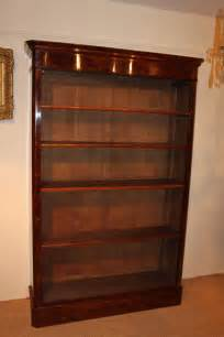 large mahogany open bookcase antiques atlas