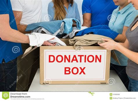 Up Donation by Donating Clothes Stock Photo Image Of