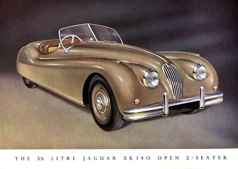 principal xk140 brochure from 1955 with brilliant airbrush