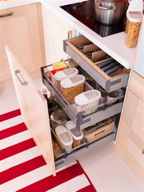 functional kitchen cabinets 35 functional kitchen cabinet with drawer storage ideas home design and interior