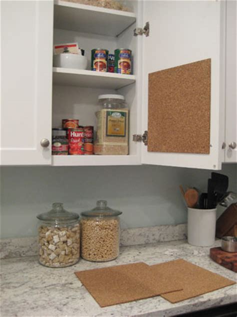 how to make a kitchen recipe board echoes of laughter create a hidden in cabinet cork board message center it s