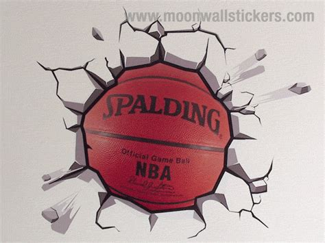 basketball wall stickers fantastic wrecking basketball wall sticker on the wall