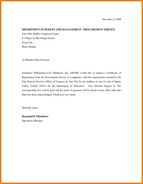 Request Letter Vehicle 11 Letter Of Request Mac Resume Template
