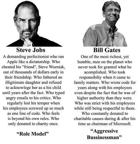 Steve Jobs And Bill Gates Meme - steve jobs vs bill gates public opinion funny pictures