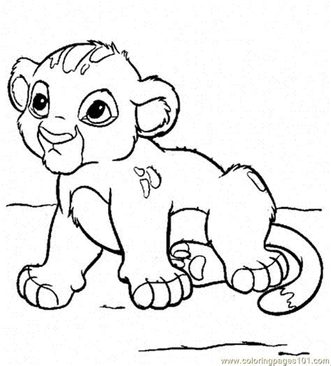 coloring pages baby simba cartoons gt the lion king