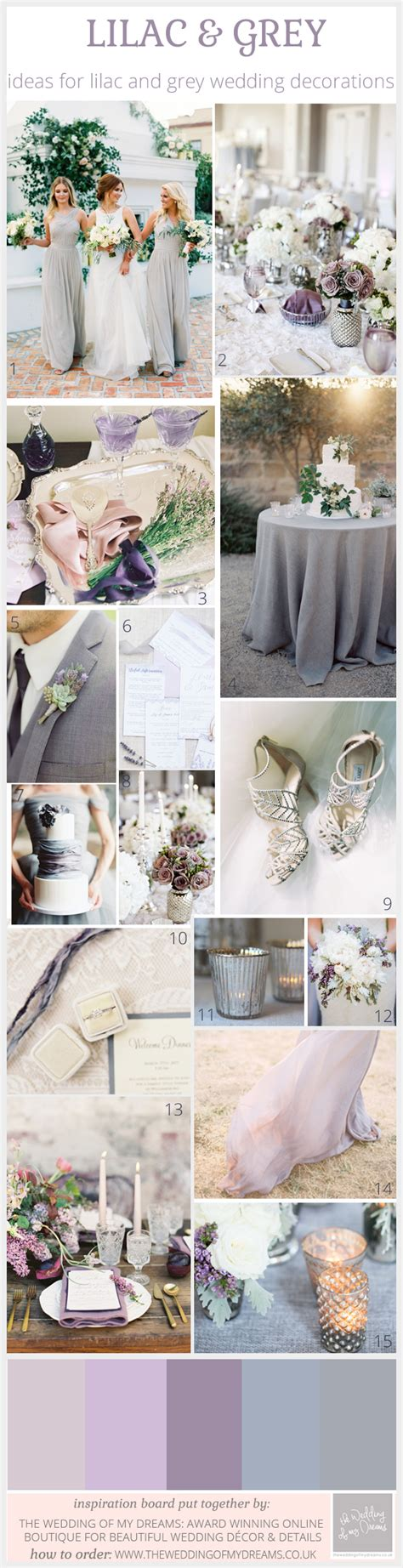 grey theme chic lilac and grey wedding theme inspiration