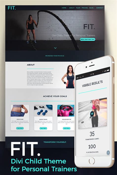 Fit Premium Fitness Divi Child Theme Divi Child Theme Templates