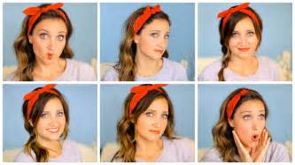 can u wear use hair up with a non layered bob six diy 1 minute bandana hairstyles cute girls