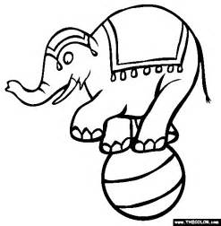 Circus Online Coloring Pages  Page 1 sketch template
