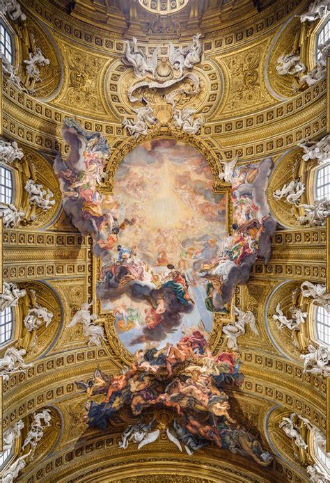 baroque ceiling giovanni battista gaulli dit il baciccio g 234 nes 1639