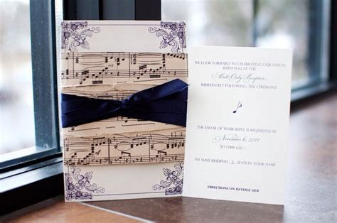25  best ideas about Music Wedding Invitations on
