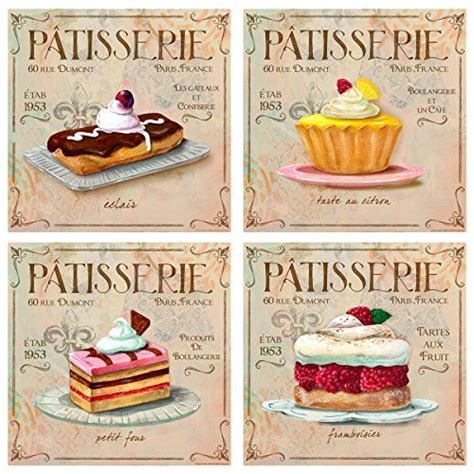 Patisserie Decorative Accessories by Patisserie Bakery Wall Decal Set Vintage Style Bun