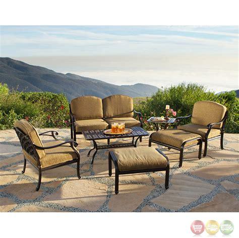 charleston 7pc cast aluminum outdoor sofa group 10632263