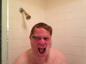 Guys In The Shower by Larry Page On Robert Scoble S Glass Shower Photo