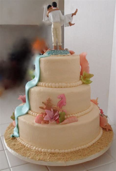 3 Tier Cake Decorating Ideas by Themed 3 Tier Wedding Cake Cakecentral