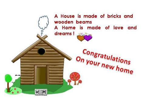 Ng Ulatory Message On A New Home Free New Home Ecards