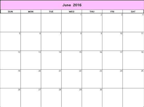 blank printable june 2016 calendar june 2016 printable blank calendar calendarprintables net