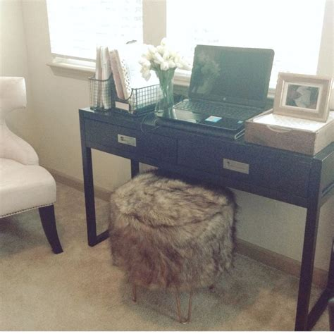 Threshold Faux Fur Ottoman Stool Target My House