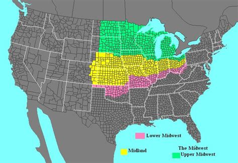 map usa midwest should oklahoma be a midwest state southern state or