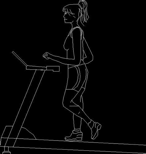 treadmill dwg elevation  autocad designs cad