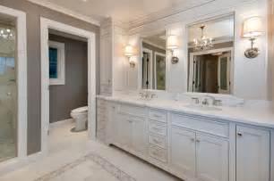 Master Bath In White Traditional Bathroom San