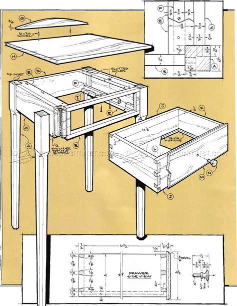 pencil post nightstand plans woodarchivist