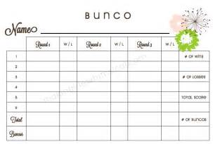 free bunco scorecard template printable bunco score cards score sheet templates