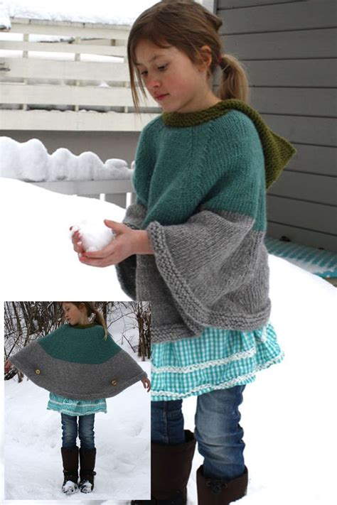 free knitting patterns poncho child child s poncho with buttons free pattern kiddos knits