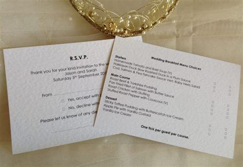 wedding rsvp menu choice template menu rsvp cards and envelopes wedding stationery