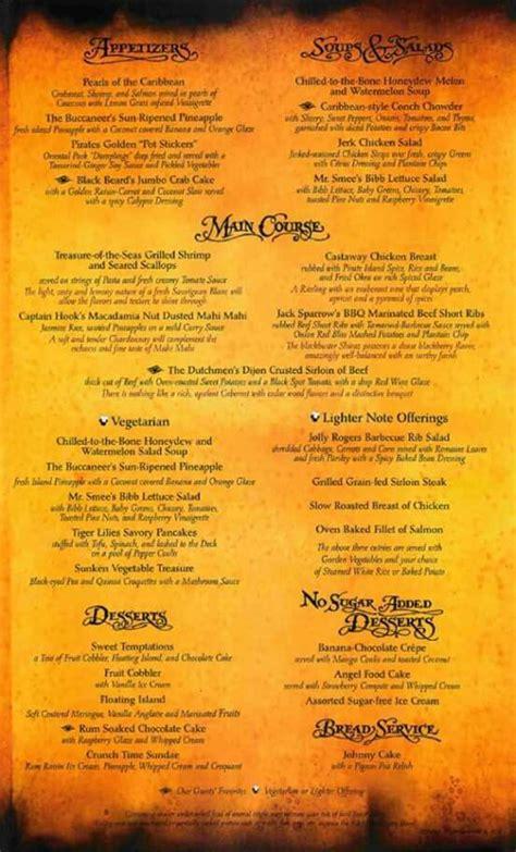 pirate night menu disney cruise pirate night pinterest