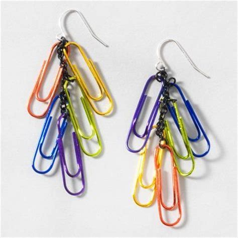 How To Make Paper Clip Earrings - 46 best images about exciting earrings on