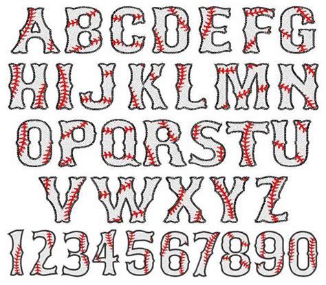 printable embroidery alphabet baseball font embroidery font applique and embroidery