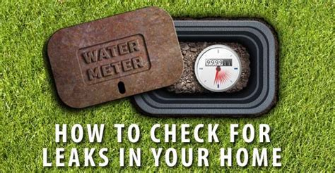 How To Test Plumbing For Leaks by How To Check For Leaks In Your Home