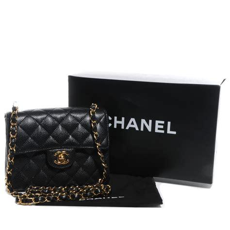 C Hanel Square chanel caviar square mini flap black 55780
