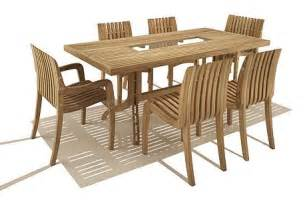 Teak Dining Table And Chairs Simple Teak Outdoor Dining Table And Chair Set